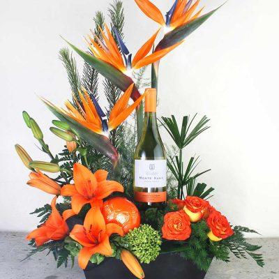 monte xanic, vinos, flores, aves del paraiso