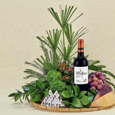 Regalos gourmet con vino